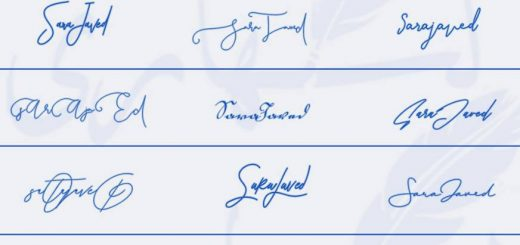 Signatures for Sara Javed