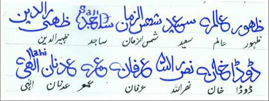 Different Signatures in Urdu 3