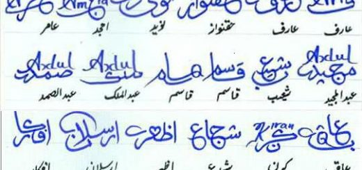 Different Signatures in Urdu 4