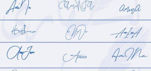 Signatures for Amina