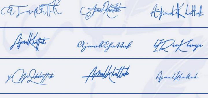 Signatures for Ajmal Khattak