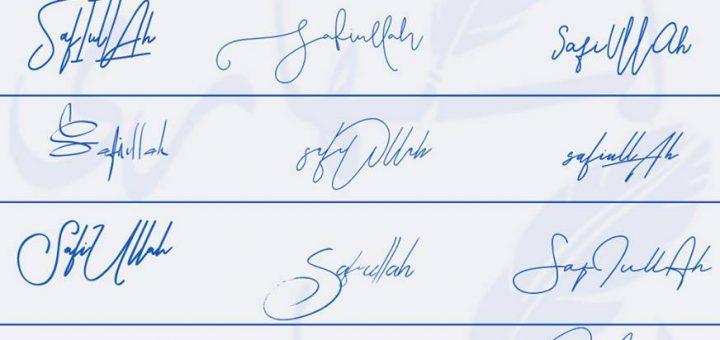 Signatures for Safiullah