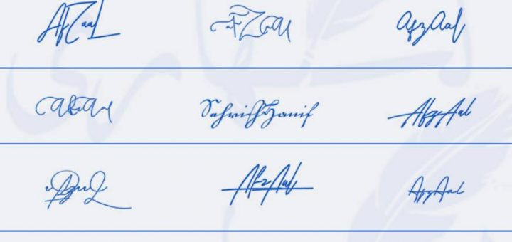Signatures for Afzaal