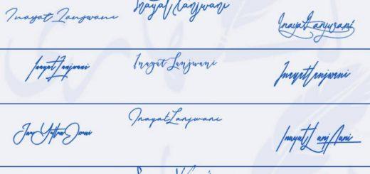 Signatures for Inayat Lanjwani