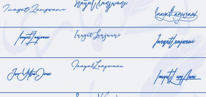 Signatures for Inayat Lanjwani