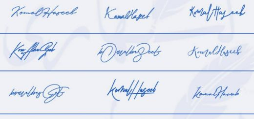 Signatures for Komal Haseeb