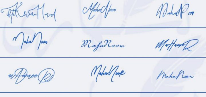 Signatures for Maha Noor