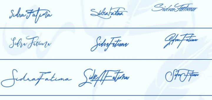 Signatures for Sidra Fatima