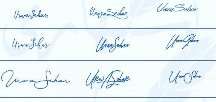 Signatures for Urwa Sehar