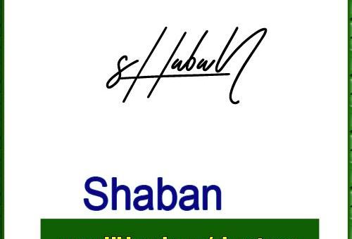 Shaban Handwritten Signature