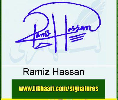 Ramiz-Hassan-Signature-Styles