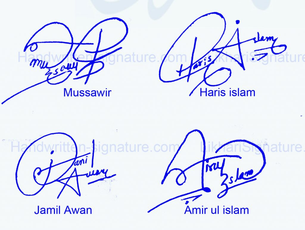 4 Best Handwritten Signature Collection