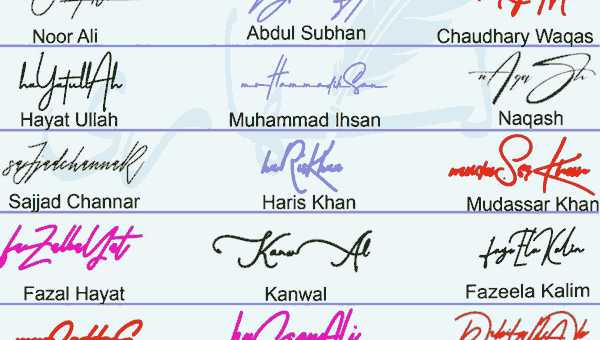 Handwritten Signature Collection