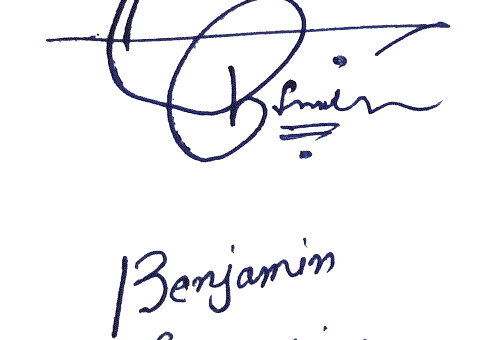 Benjamin Franklin Name Signature Style