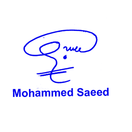 Mohammed Saeed Online Signature Style