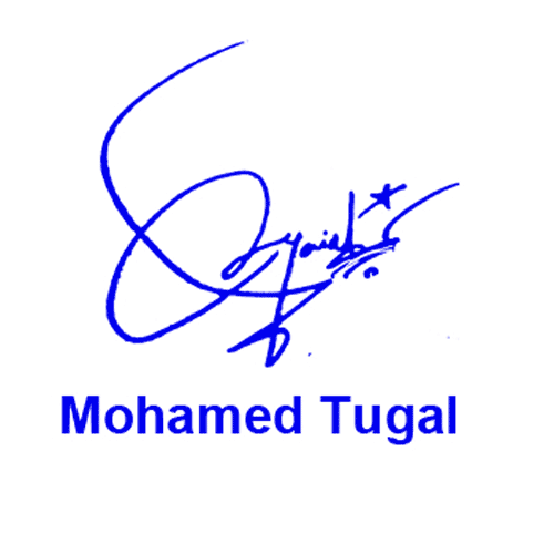 Mohamed Tugal Online Signature Style
