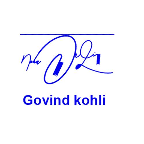 Govind Kohli Online Signature Style