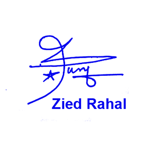 Zied Rahal Online Signature Style